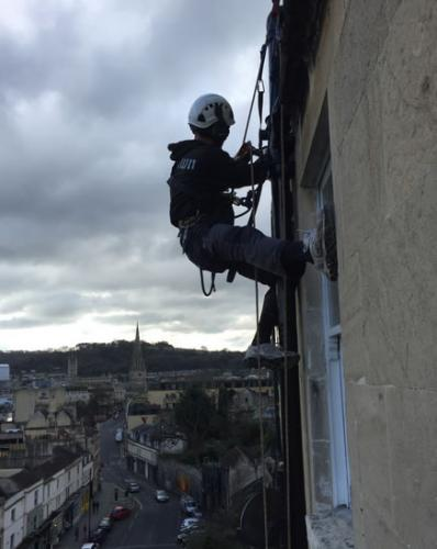 Plumber Abseiling Bath City